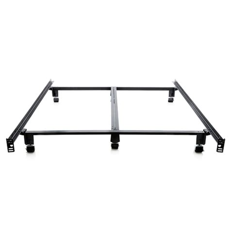 Metal Bed Frame With Wheels King Size Heavy Duty Metal Bed Frame With Locking Rug Roller Casters Wheels Fastfurnishings