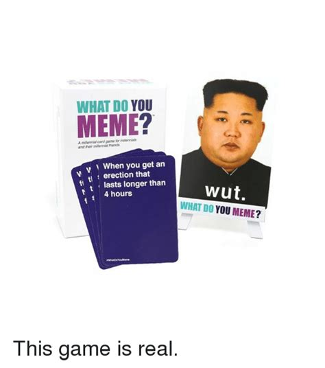 Meme Card Game - what do you meme a miltennial card game for milennias and