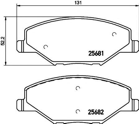 skoda brake pads 6ru698151a skoda 6ru698151a brake pad set disc brake for