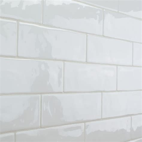 10 X 8 White Ceramic Tile by Elida Ceramica Crafted White Subway Ceramic Wall Tile