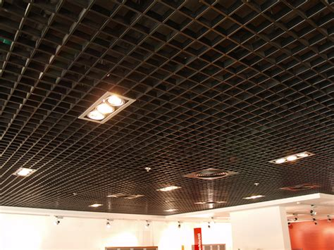 open grid ceiling profex metal ceilings open cell system