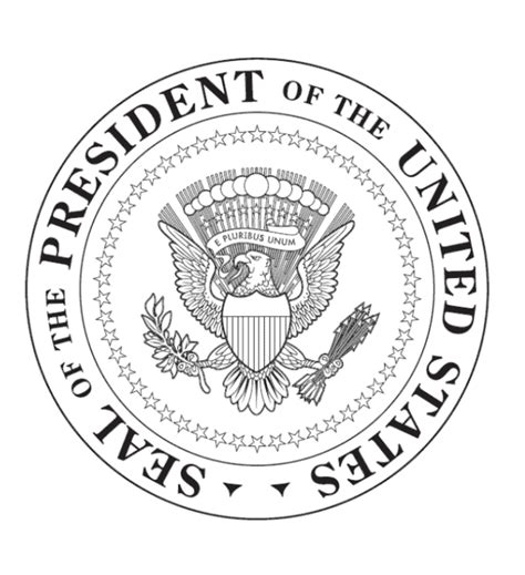 free coloring pages of the presidential seal