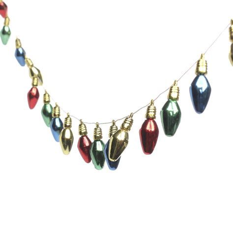 miniature christmas light bulb garland christmas