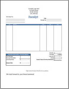 template receipt for services service receipt template spreadsheetshoppe