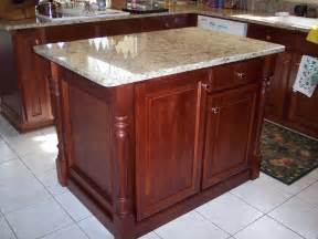 Kitchen Island With Posts Classic Kitchen Remodel Using Osborne Islander Legs