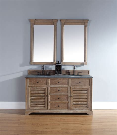 60 inch sink bathroom vanity in driftwood finish