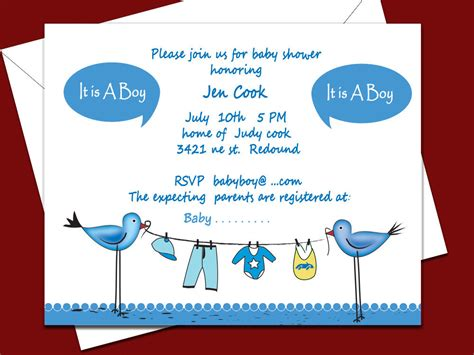 baby shower templates for boy baby shower invitations for boys free templates