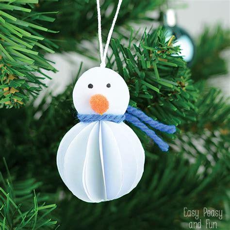 easy ornaments simple snowman ornament kid made ornament