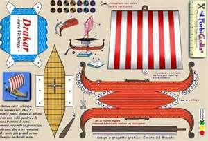 Viking Ship Template by Papermau Viking Ship Paper Model By Forbicolla Barco