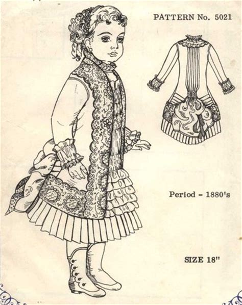 dress pattern in french 13 quot antique french bru doll 1880 s bustle dress pattern