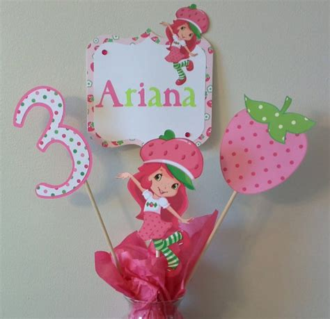 strawberry shortcake centerpieces strawberry decorations