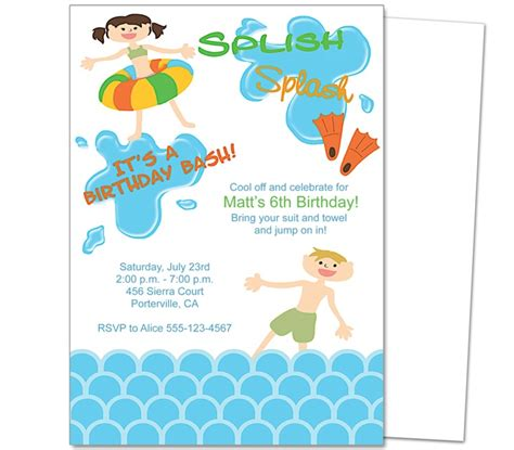 swimming pool invitations templates 23 best images about birthday invitation