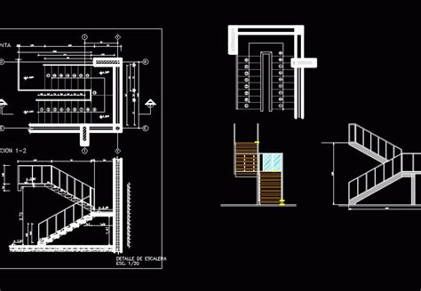 steel  wood staircase dwg block  autocad designs cad