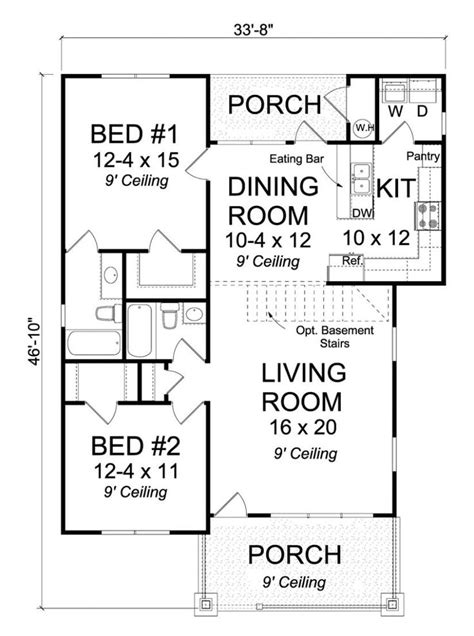 2 small house plans 25 best ideas about 2 bedroom house plans on