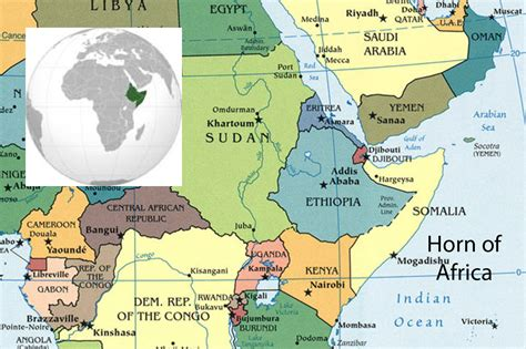 africa map horn of africa looming consequences as yemen falls the horn of africa