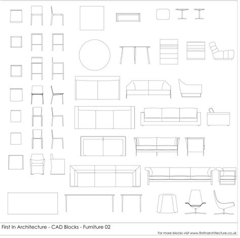 furniture templates for autocad cad blocks furniture pack 02 first in architecture