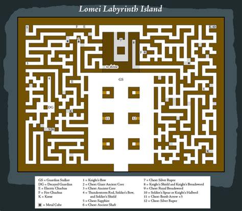legend of zelda map maze lomei labyrinth island zelda dungeon wiki