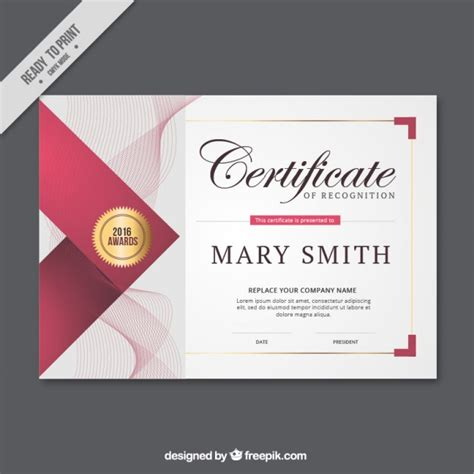 design graduation certificate abstract lines certificate vector free download