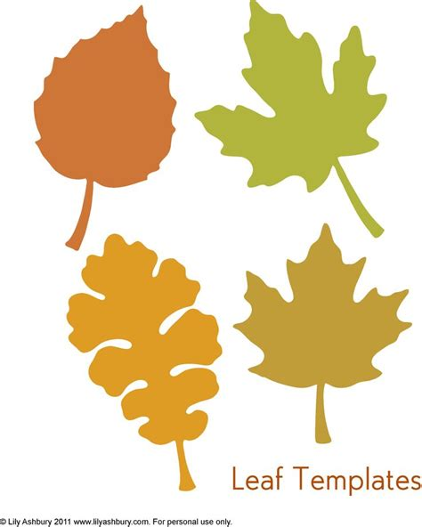 free printable fall leaves free printable leaf patterns clipart best