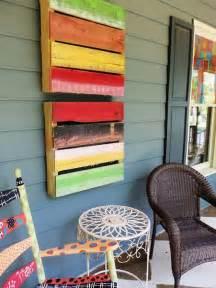 recycled pallet wall art ideas  enhancing  interior
