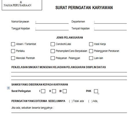 Contoh Surat Perjalanan Dinas Karyawan Swasta by Contoh Surat Peringatan Kariyawan Dari Perusahaan