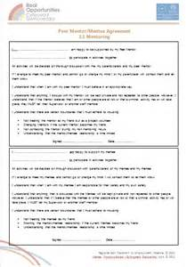 Mentoring Agreement Template mentoring agreement gallery
