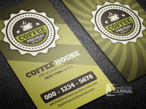 coffee business card template free coffee business card template retro style psd file free