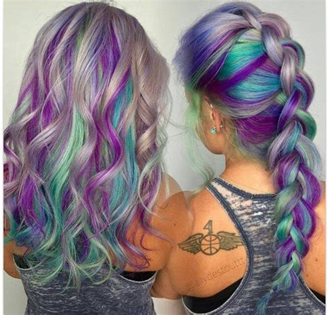 hair designs with grey streaks best 20 colored hair streaks ideas on pinterest