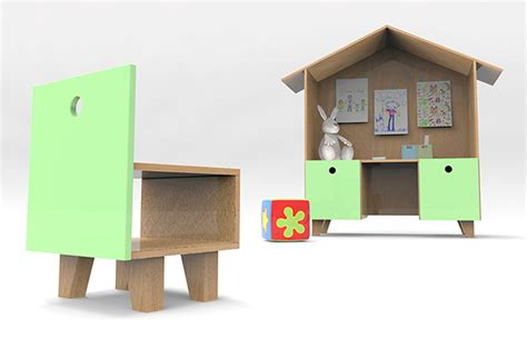 Domum Modern Kids Desk By Carolina Balbino And Pedro Play Desks