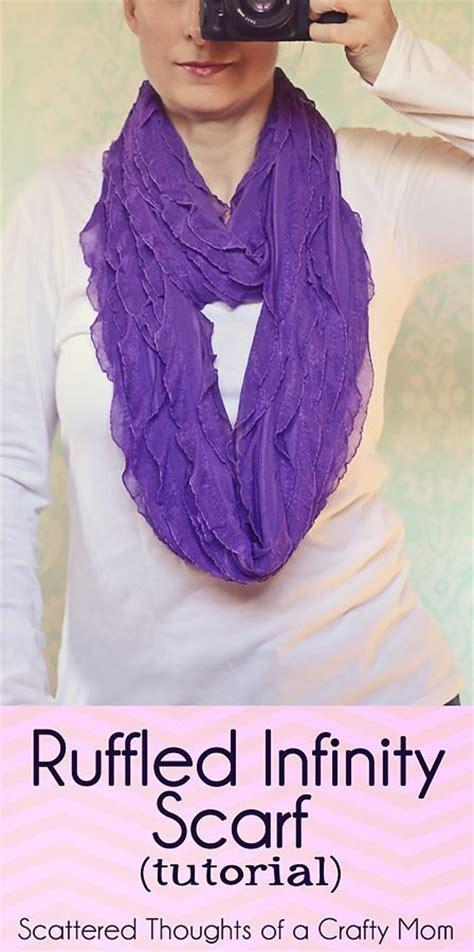 ruffled infinity scarf ruffled infinity scarf tutorial infinity