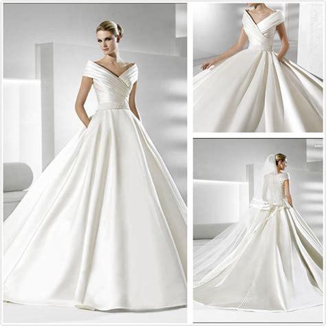 desain gamis simpel elegan elegant but simple wedding dresses