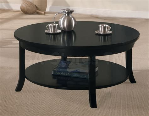 Black 3 pc occasional table set end and coffee tables af 08000 set 2