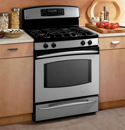 gas wall oven with warming drawer ge profile free standing self clean convection gas range