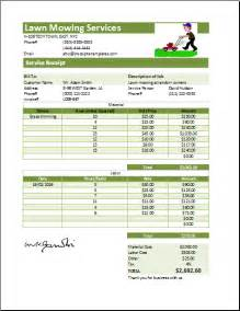lawn mowing invoice template free ms excel printable lawn mowing receipt template receipt