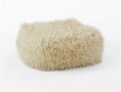 faux mongolian pouf floor pillows