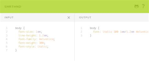 css background shorthand 25 free web based apps tools for working with css envato