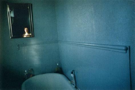 bathroom self work on monday quot self portrait in blue bathroom quot by nan goldin