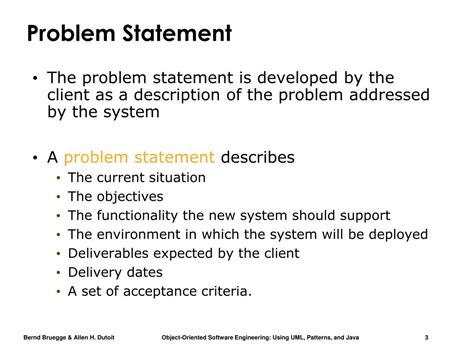 ppt ex le of a problem statement introduction into