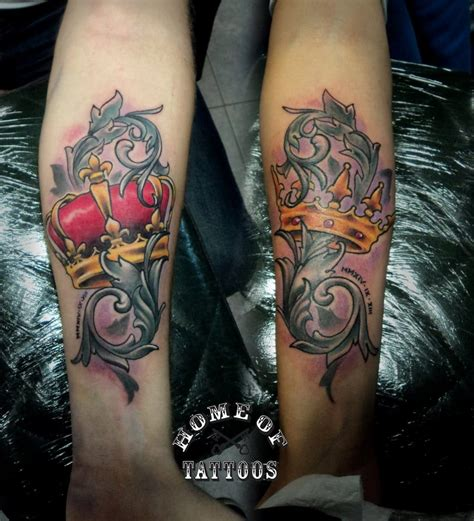 matching crown tattoos for couples 15 matching tattoos for all the inked up tattoodo