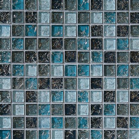 crackle glass tile 1 x 1 crackled glossy glass tile mosaic blue blend