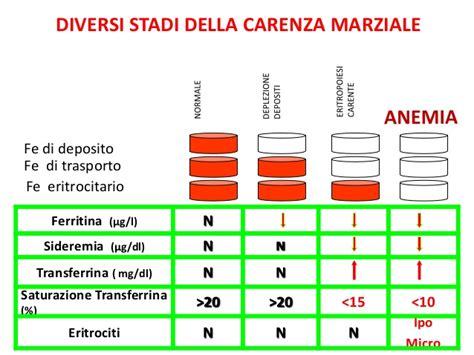 alimenti contengono ferritina anemia da carenza di ferro
