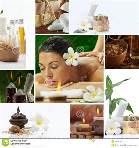 spa images spa collage stock photo image 34166330