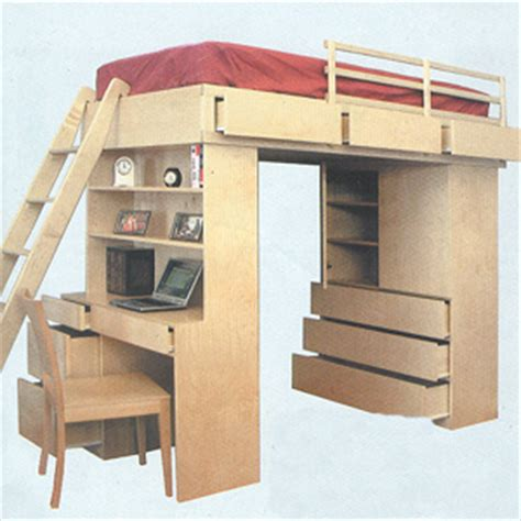 Wooden Loft Beds Solid Wood Loft Bed System 263tlb B Bunk Bed Systems