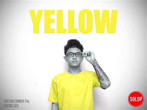 Kaos Distro Go Yellow kaos polos kuning kaos polos solop kaos polos distro