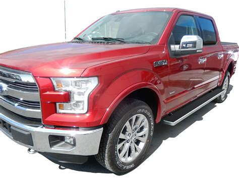 2018 ford f150 running boards ib06eag5a 2015 2018 ford f 150 supercrew istep 5 silver ib06eag5a running boards nerf