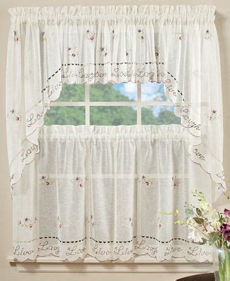 36 cafe curtains saturday knight pair of live laugh love 29 quot x 36 quot cafe