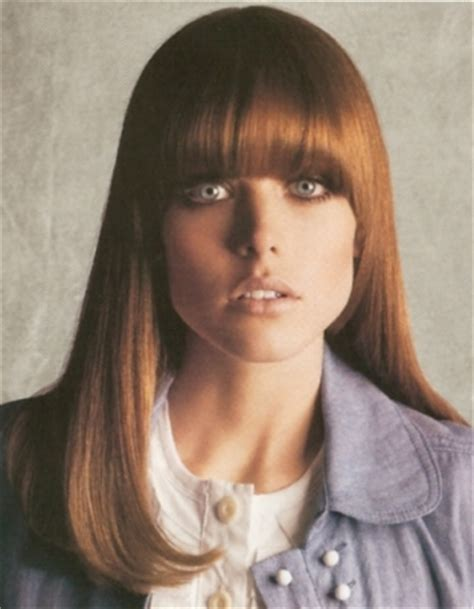 Long Red Hairstyle With Fashion Bangs