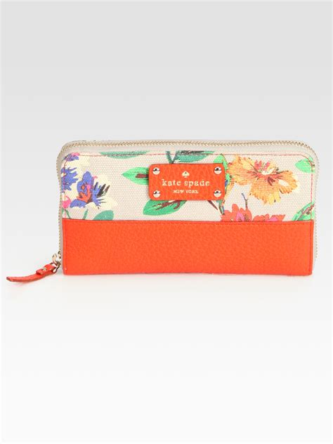 Kate Spade Ashbury Orange Floral Hobo by Kate Spade New York Floral Mixedmedia Continental