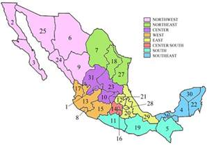 Map Of States Of Mexico by States Of Mexico Mapsof Net