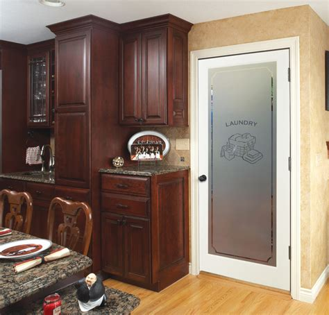 laundry decorative glass interior doors traditional